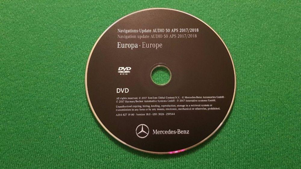 MERCEDES-BENZ - DVD Atualização GPS NAV NTG4-204 AUDIO 50 - v. 18 2018