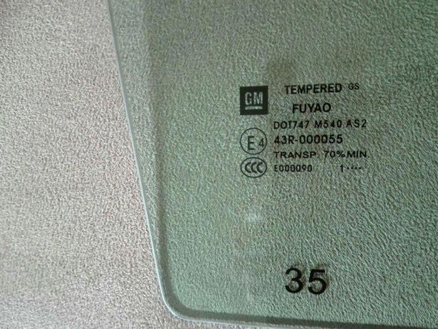 Szyba drzwi PRAWY TYŁ 2011 Opel Insignia Kombi 11 TRANS.70%