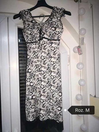 Sukienka czarno-biala M