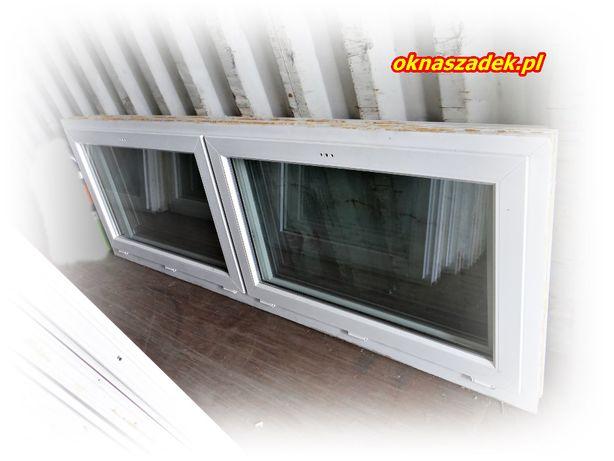 244x82 niskie okno PCV używane niemieckie- tanie okna Szadek łódzkie