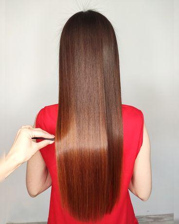 Кератиновое выпрямление волос Ботокс для волос Нанопластика Кератин