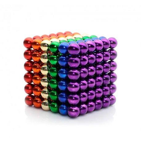 Новий Неокуб Neocube 216 шаріків 5мм металевий бокс кольоровий