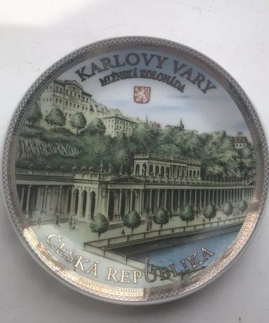Сувенирная тарелка Карловы Вары