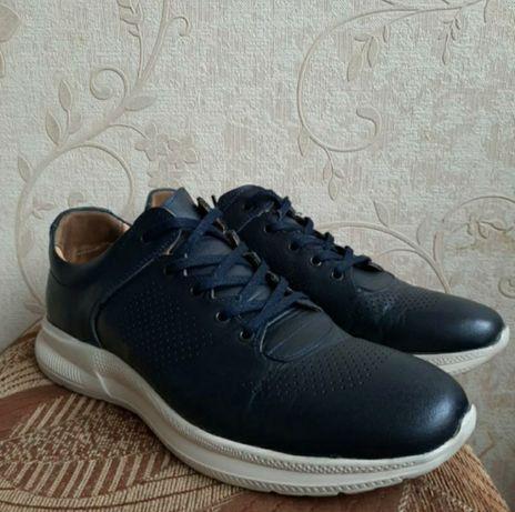 Мужские кроссовки натуральная кожа (kemal tanca)