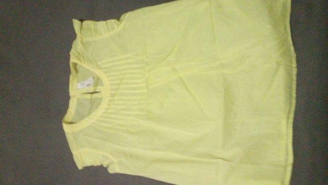 Túnica blusa de Menina - Amarela - Nova - 9/10 anos e 11/12 anos
