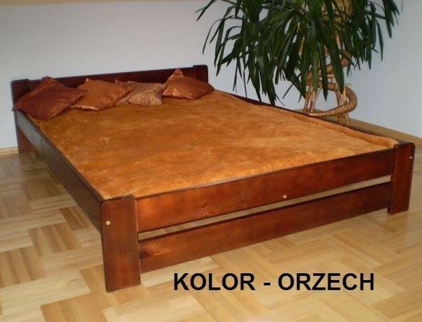 Łóżko z materacem 90,120,140,160,180x200 dąb orzech olcha j.sosna