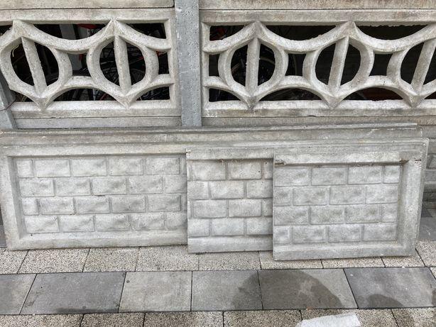 Płyta betonowa ogrodzenie