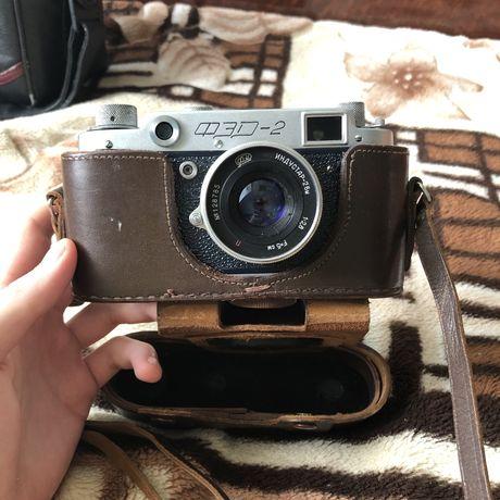 Пленочный фотоаппарат ФЭД-2 + объектив «Индустар-26М»