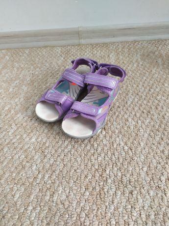 Сиреневые босоножки Ponny 29-30р 19,5см,сандалии на девочку с мигалкам