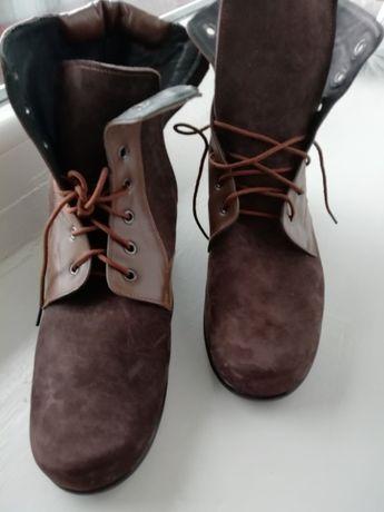 Ботинки, полусапожки. Новые. Кожа. 39