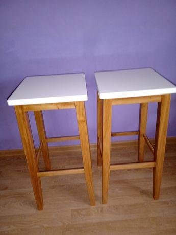Hoker taboret stolek debowy