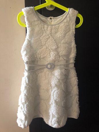 Sukienka świąteczna zimowa. Rozmiar 116