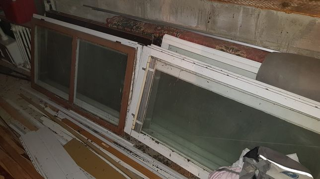 Stare okna na szklarnię
