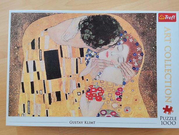 Puzzle Gustav Klimt - Pocałunek (1000)