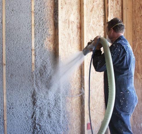 Эковата - утепление стен крыш, перекрытий дома. Целлюлозный утеплитель