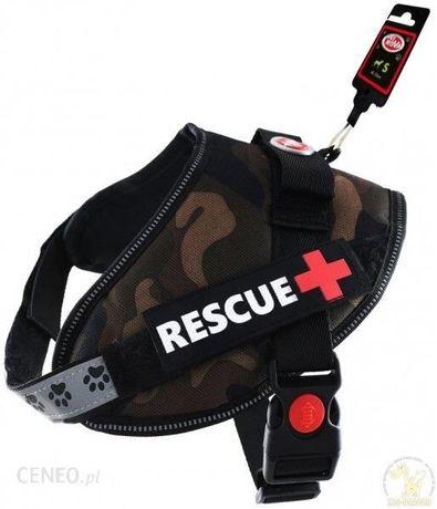 Szelki dla psa moro Rescue L 65-80cm odblaskowe