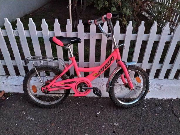 Яркий велосипед Profi для девочки, колеса 16 дюймов