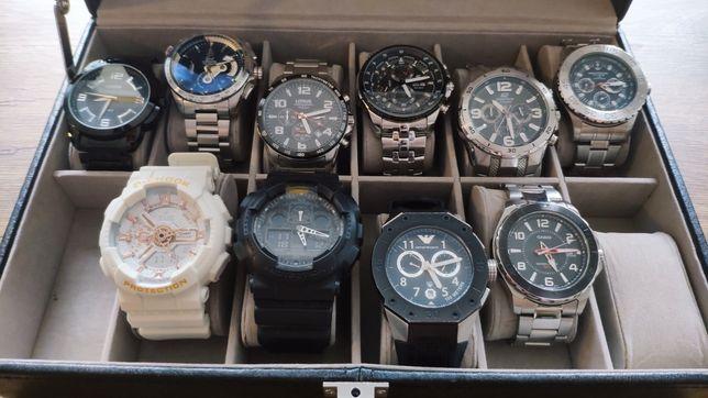 Zestaw 10 zegarków + walizka OKAZJA