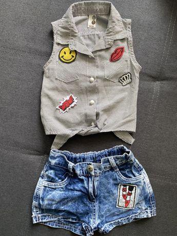 Літній дитячий комтюм, джинсові шорти + майка