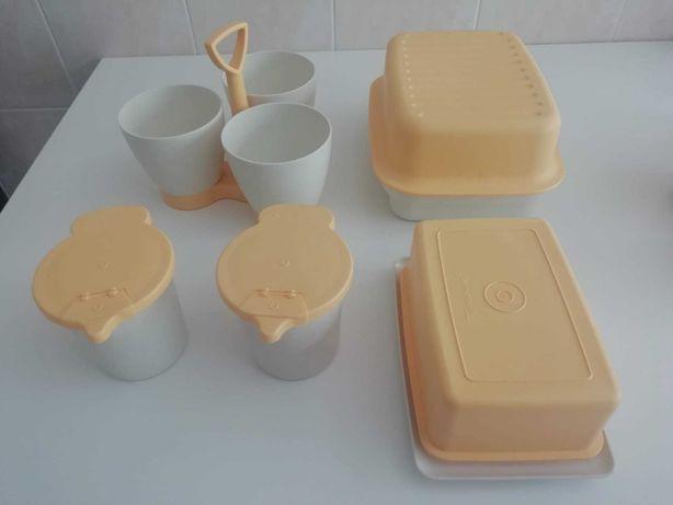 Conjunto de Tupperware original amarelos