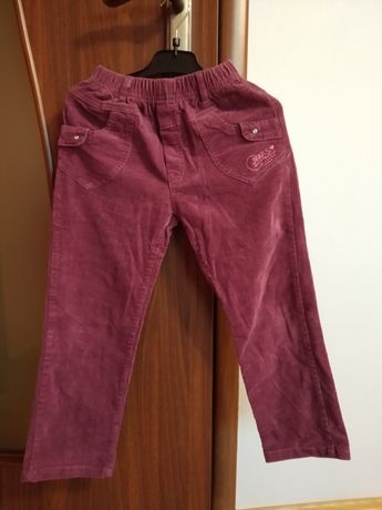 Spodnie sztruksowe dziewczęce