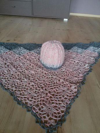 Chusta czapka -rękodzieło