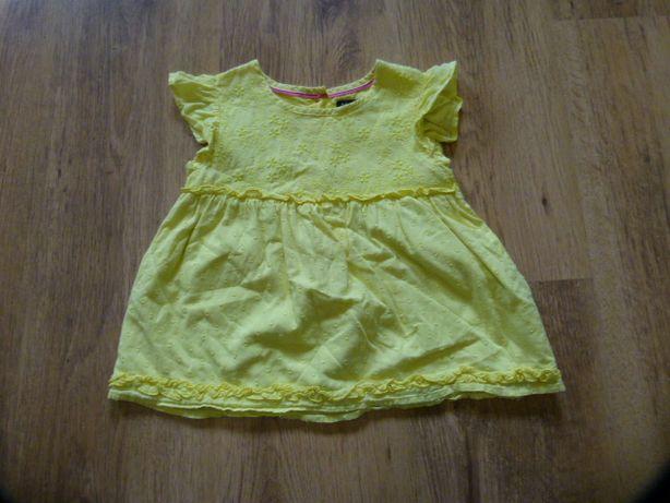 M&S śliczna żółta bluzeczka na lato rozmiar 92