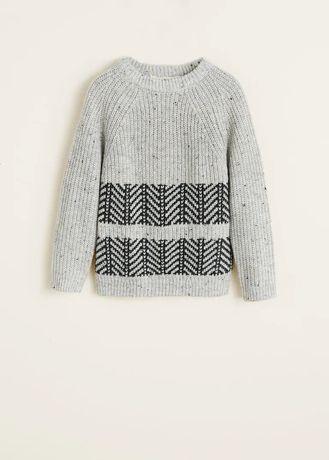 Теплый свитер Mango 7-8л. (128см)
