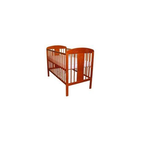 Łóżeczko Dziecięce Klupś Radek VIII z drewna sosnowego kolor Teak