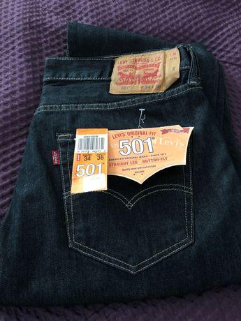Jeans Levis nowe spodnie W34 L36 34/36