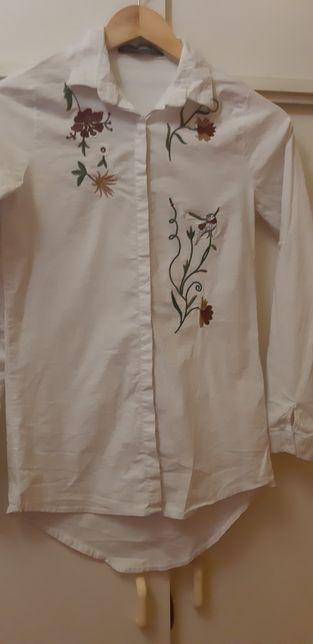 Koszula biała damska z haftem M