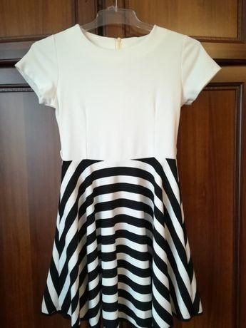 Biało - czarna sukienka
