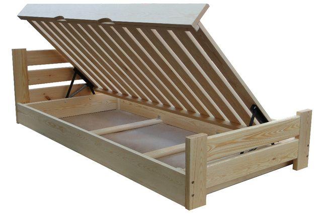 łóżko sosnowe otwierane na bok z pojemnikiem FLORENCJA 90x200