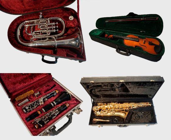 Vendo instrumentos de orquestra