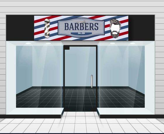 Painel em PVC 2 metros para Barbearia Vários Designs
