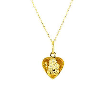 Medalik złoty serce pr.585 prezent na komunię, chrzest, bierzmowanie