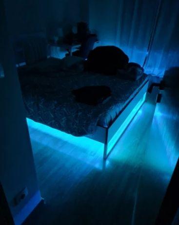 Светодиодная лента 5 метров многоцветная LED 5050 RGB, на пульту