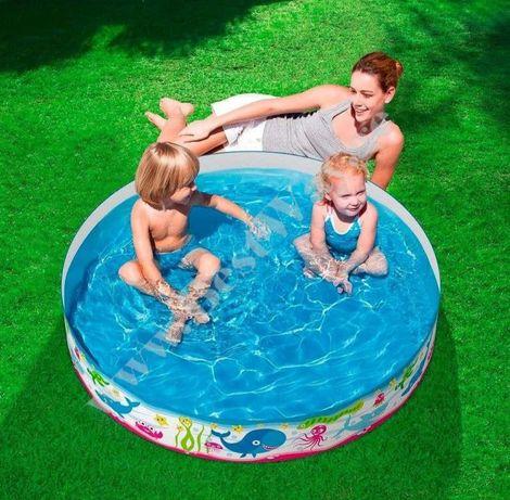 Детский бассейн каркасный , сухой бассейн с шариками bestway
