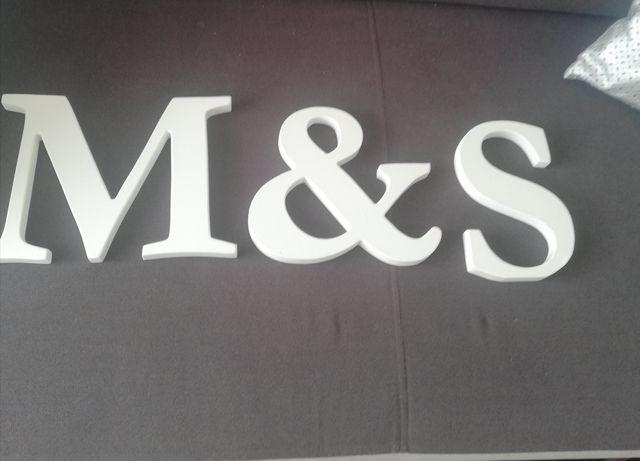 Litery na stół weselny dekoracja ozdoba do sypialni mieszkania M&S