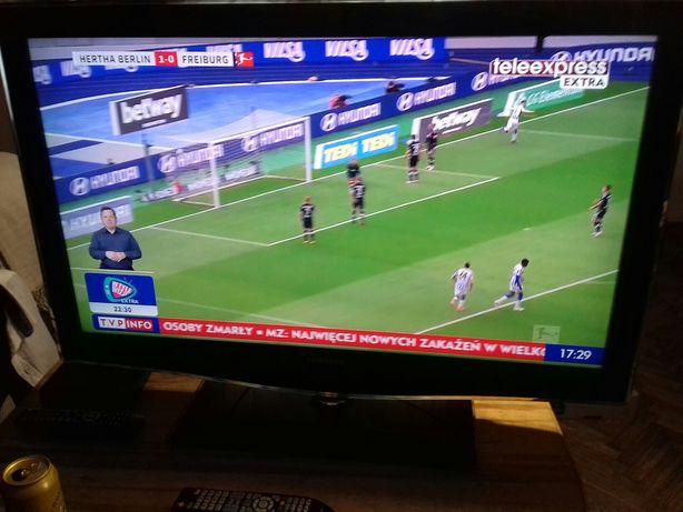 Telewizor Full HD Samsung LE 40B651T3W z pilotem i DVB-T, super stan