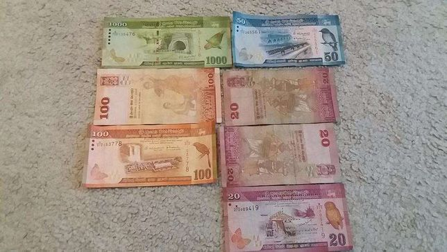 Banknoty Sri Lanka 1310 ruppes