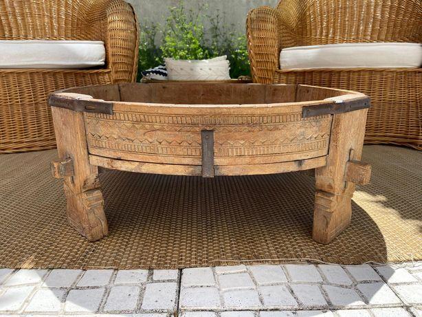 mesa, centro, rustico, vintage, oriental, impecável