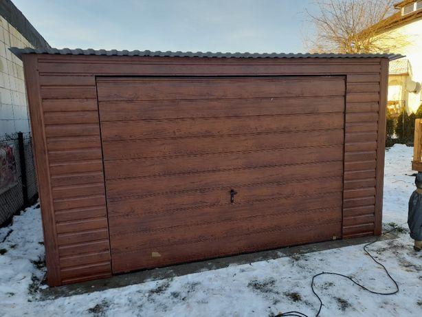 Garaż blaszany 4x6, producent, schowki, schowek na budowę