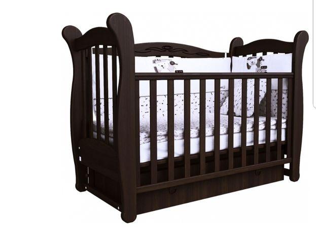 Дитяче ліжечко кроватка детская. З матрацом 4500 грн