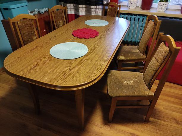 Stół rozkładany 200-250x90 plus 10krzesel