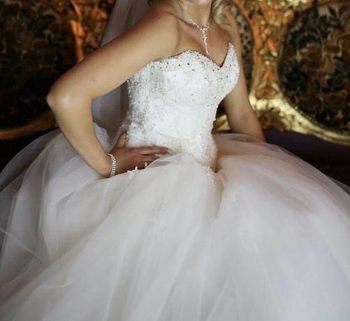 Suknia ślubna welon bolerko koło cyrkonie