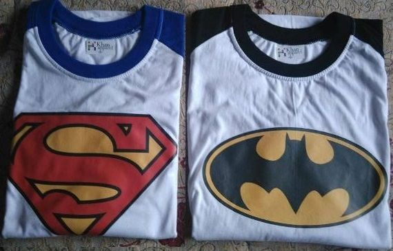 SWEAT Batman e Super Homem
