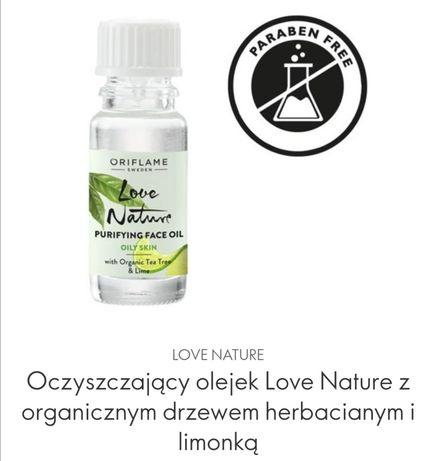 Oczyszczający Olejek Love Nature z organicznym drzewem herbacianym