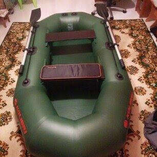 Надувная лодка kolibri K-250T + якорь + мягкое сидение с сумкой