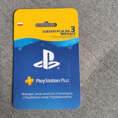 3 miesiące 90 dni PlayStation Plus Subskrypcja kod karta PS4 PS5